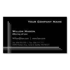 Simple Black Framed, Professional Business Card