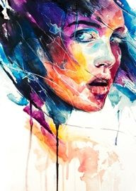 another stunning Agnes Cecile painting - i love her work Art And Illustration, Illustrations, Agnes Cecile, Drawing Eyes, Woman Drawing, Art Graphique, Watercolor Portraits, Portrait Art, Face Art