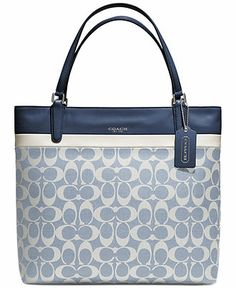 coach satchel bag outlet k4o6  COACH SMALL TOTE IN SIGNATURE CANVAS