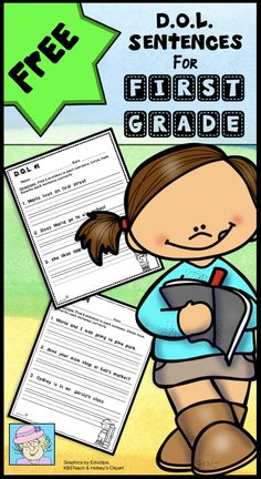 Daily Oral Language Sentences for First Grade FREEBIE! This sample set of D.O.L. sentences is just right for first grade! It has 5 pages with 3 sentences on each page, for a total of 15 sentences to correct! Students will identify 3 errors in each sentence. Then, they will rewrite each sentence correctly. Errors in punctuation, capitals, spelling, and verb tense are included. *Note: This is a set of 5 ADDITIONAL pages with the same format as the priced product. All of the sentences and clip art First Grade Freebies, First Grade Activities, Daily Oral Language, Language Arts, Scientific Method Lesson, Math Workbook, Powerpoint Lesson, School Week, Writing Lessons