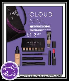 This collection includes: 1 Moodstruck Addiction Shadow Palette 1 Touch Mineral Skin Perfecting Concealer 1 Moodstruck Opulence Lipstick 1 Touch Mineral Liquid Foundation 1 Precision Brow Liner 1 Precision Brow Gel 1 Moodstruck 3D Fiber Lashes+ 1 Younique makeup bag   #youniquecollections #makeupkit #younique #uk #usa #canada #germany #newzealand #australia #mexico