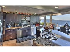 Our dream home... Kitchen waterfront view