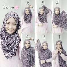 This is a beautiful hijab tutorial with a great chest coverage, all kind of patterns and colors will look amazing on the fabric layered on the chest, you can try on all of your maxi hijabs and cover your chest…
