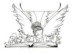 A Good Book Line Art by *UGLITRY on deviantART