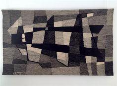 """Jean Deyrolle, """"Sénanque"""" tapisserie Atelier de Chantilly, 1,03 x 1,76 m - circa 1967 © galerie Pascal Lainé"""