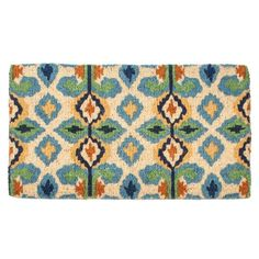 This fun and funky mat is perfect for welcoming your favorite people to your home! To clean, simply vacuum or hose down. Perfect for indoors and out.