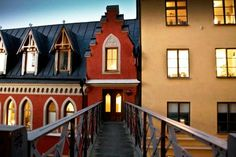 """One of Stockholm's most famous addresses, Bellsmansgatan 1 is where the fictional character Mikael Blomkvist lived in """"The Girl with the Dragon Tattoo."""" Stockholm, Sweden."""