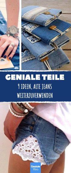 Diese 9 genialen Ideen beweisen: Alte Jeans schneidet man auseinander und bastelt.