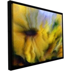 Dean Uhlinger Faux Floral 2 inch Floater-Framed Gallery-Wrapped Canvas, Size: 18 x 24, Purple