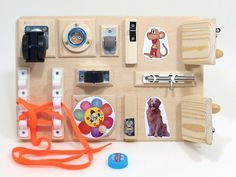 Baby Busy Board Travel Fine Motor Sensory Toy Unique Gift For