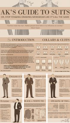 AK's Guide to Suits. very usefull... #menswear