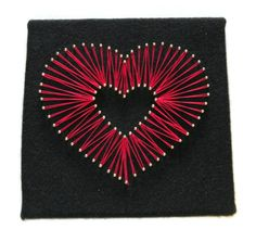 Heart string art  Perfect way to say you love someone! Made by the coolest lady @thecraftpenguin #craftyrebels