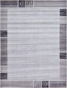 Light Gray Modern Tri-Color Area Rug