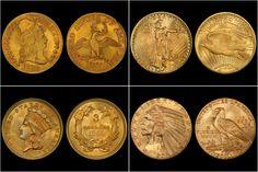Součástí unikátní výstavy nejdražší mince světa Flowing Hair Liberty Dollar 1794 bude  také sbírka vzácných amerických dolarů. Některé z těchto mincí si můžete prohlédnout zde https://cz.pinterest.com/NPCZ/zlat%C3%A9-americk%C3%A9-dolary/ #narodnimuzeum #narodnipokladnice