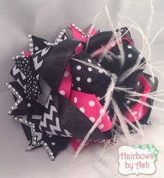 7 extra large 6 over the top layers chevron and by HairbowsByAsh
