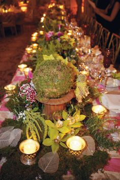 Country Wedding Reception Ideas | Natural elegance graces this table by David Beahm Design in New York ...