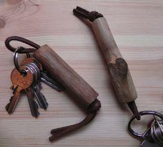 Portachiavi in legno di kiwi (Keychain wooden kiwi)