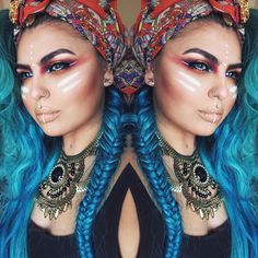 """Tribal inspired Makeup Inspired by three amazing followers @1313pandarabbit @tatty_tatts @noiseandkisses90 Thank you so much guys for suggesting the idea…"""