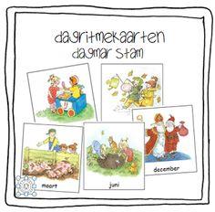 Kleuterjuf in een kleuterklas: Woordkaarten MAANDEN (Dagmar Stam)