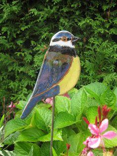 Garden Totems, Garden Art, Clay Projects, Bird Houses, Sculpting, Etsy, Ceramics, Birds, Clay