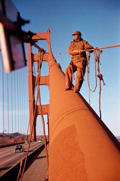 Werner Bischof  USA. San Francisco, California. 1953. Golden Gate Bridge.