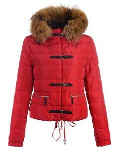 Doudoune Vest Femme Classe Rouge