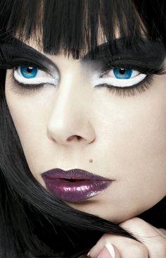 Black and White Eye Makeup