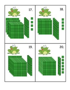 Here's a set of leap frog place value cards for playing scoot.