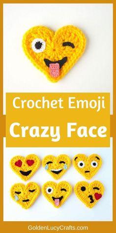 Crochet Applique Patterns Free, Crochet Keychain Pattern, Crochet Square Patterns, Crochet Motif, Free Crochet, Crochet Hearts, Crochet Flowers, Mummy Crafts, Diy Crafts