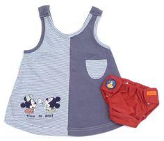 Kleid von #Disney mit #Mickey und dazu passender Schwimmwindel von #nijntje in Gr. 62-68.