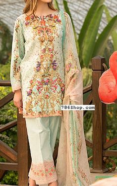 Light Sea Green Lawn Suit | Buy Kayseria Dresses