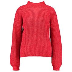 ATHEA BALLOON Jumper red ($42) ❤ liked on Polyvore featuring tops, sweaters, jumpers sweaters, balloon tops, red sweater, jumper tops and red top