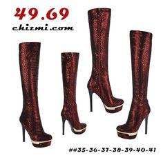 Heeled Boots, Heels, Red, Fashion, High Heel Boots, Heel, Moda, Fashion Styles, Boots