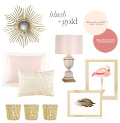 Inspiration. Love the color palet of blush and champaigne and sparkle for a girl nursery