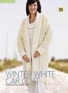 winter white car coat