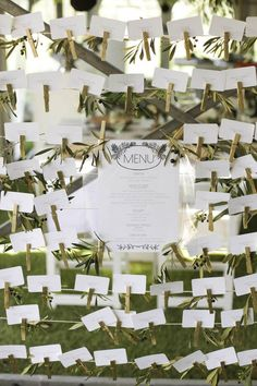Botanical Olive Farm Wedding by Justin Davis Photography {Rebecca & Craig} Olive Branch Wedding, Olive Wedding, Farm Wedding, Wedding Table, Rustic Wedding, Wedding Cards, Wedding Events, Table Cards, Ceremony Decorations