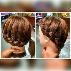 """""""4 strand wrap around braid into a hair wrapped ponytail! Inspired by @yetanotherbeautysite #showmyhairstyle #backtoschoolhaircontest"""" Photo taken by @braids.by.bekah on Instagram, pinned via the InstaPin iOS App! http://www.instapinapp.com (08/23/2015)"""