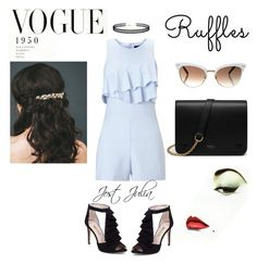 """""""Ruffles"""" by jost-julia ❤ liked on Polyvore featuring Miss Selfridge, Louise et Cie, LULUS, Mulberry, Gucci and ruffles"""