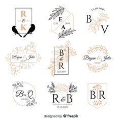 Wedding Logo Design, Wedding Logos, Monogram Wedding, Monogram Logo, Craft Logo, Photography Logo Design, Floral Illustrations, Typography Logo, Creative Logo