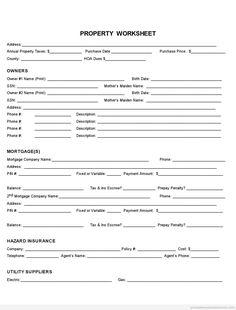 free property fact sheet printable real estate document free