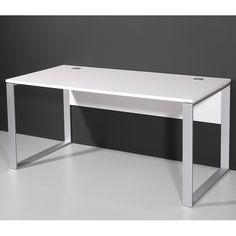Bureau informatique d\'angle design avec rangement blanc-bleu Lelia ...
