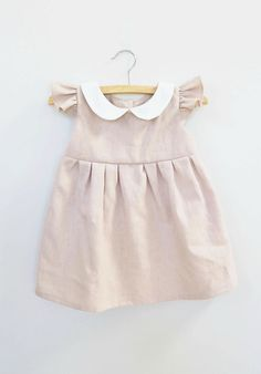 Handmade Linen Dress With Peter Pan Collar | Dabishoo on Etsy
