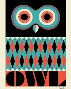 Great Owl poster, originally available from Rose & Grey but all links didn't work so I copied to my computer so I could share :)