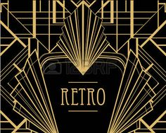 Illustration of Art deco geometric pattern style) vector art, clipart and stock vectors. Motif Art Deco, Art Deco Pattern, Art Deco Design, Geometric Patterns, Invitaciones Art Deco, Arte Pop, Art Journal Inspiration, Vector Art, Find Art