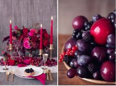 Rich Samba Red And Vivacious Berry Wedding Tablescape Inspiration | Weddingomania