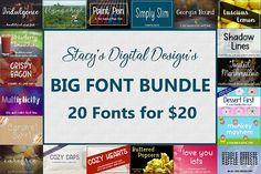 Big Font Bundle - 20 Handwritten Fonts #fontbundle #bigfontbundle #font #script #brush #modern #handwritten #bundle #bundles #fonts