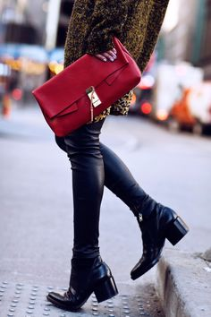 Masha Sedgwick with our #Chloé bag in NYC! #nyfw