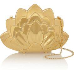 de010550a864 Charlotte Olympia Lotus Brass Clutch in Gold