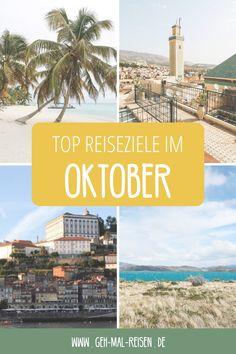 Du hast im Oktober Urlaub und planst eine Reise. Aber wohin soll es gehen? Wir stellen dir die besten Reiseziele für den Oktober vor – schau vorbei! #gehmalreisen #reiseziele #reisetipps Belize, Taiwan, Peru, Chile, Videos, Movies, Movie Posters, Pictures, Tasmania