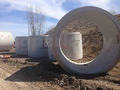 #MachineryMonday - Concrete Sewer Pipes. Massive concrete pipes used for draining